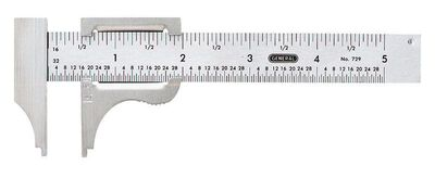 General Tools Slide Caliper 2-3/4 in. W x 4 in. L Stainless Steel