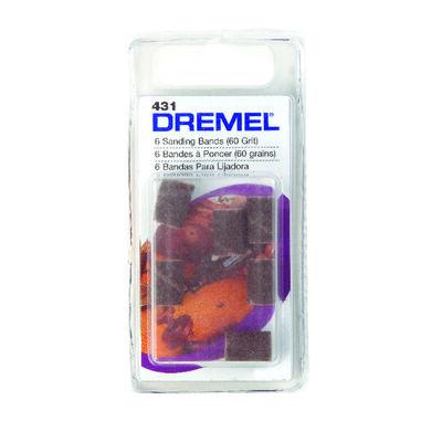 Dremel 0.3 in. Dia. x 0.1 in. Dia. 60 Grit Drum Sander Bands Aluminum Oxide 6 pk