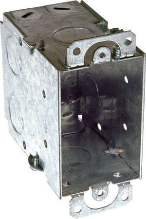 Raco 4-3/16 in. H Rectangle 1 Gang Outlet Box 1/2 in. Gray Steel