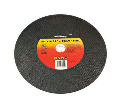 Forney 14 in. Dia. x 5/32 in. thick x 20 mm Metal Cutting Wheel