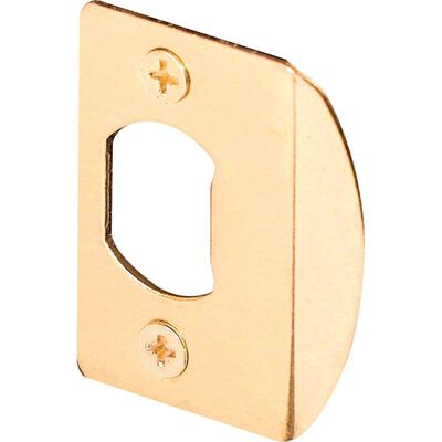 Prime-Line Deadlatch Door Strike 1-5/8 in. 2.3 in. x 1.4 in. x 0.4 in. Brass Wall Steel Use on Wood