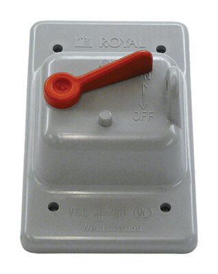 Cantex Rectangle PVC 1 gang Electrical Cover For Single Toggle Switch Gray