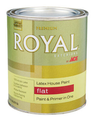Ace Royal Acrylic Latex House Paint & Primer Flat 1 qt.