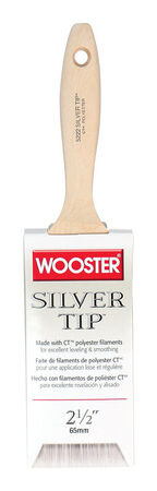 Wooster Silver Tip 2 1/2 in. W Flat Polyester Paint Brush
