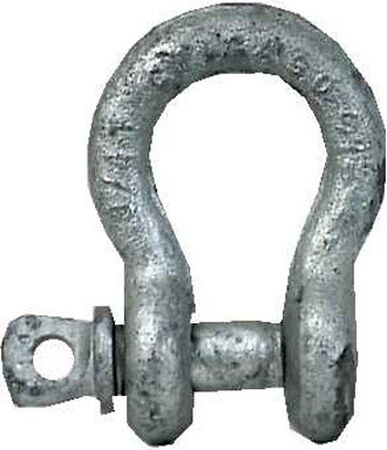 Campbell Chain Zinc Plated Forged Steel Anchor Shackle Silver 700 lb. 1 pk