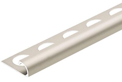 Satin Nickel Anodized 3/8 in. X 98.5 in. Aluminum R-Round Bullnose Tile Edging Trim
