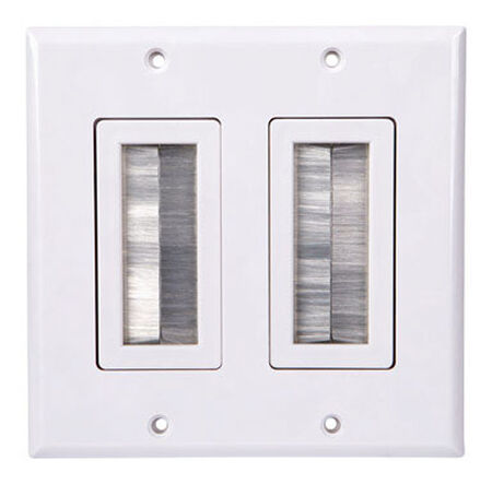 Monster Cable Just Hook It Up 2 gang White Plastic Cable/Telco Home Theater Wall Plate 1 pk