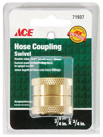 Ace 3/4 in. x 3/4 in. Brass Hose Coupling Female Threaded