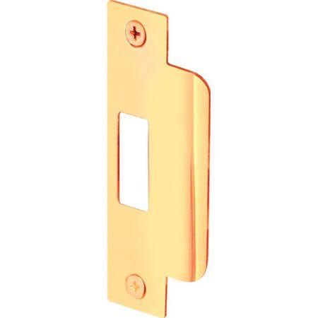 Prime-Line Door Strike 4-7/8 in. x 1-1/4 in. Brass Steel 1/Set