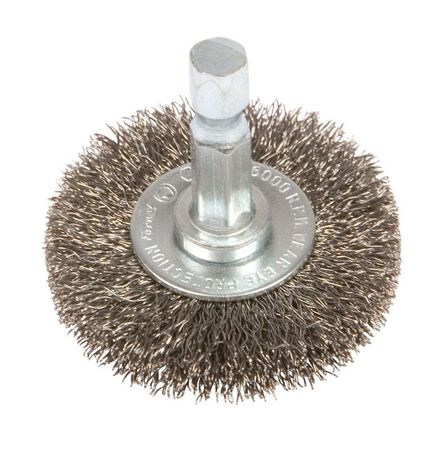 Forney 1-1/2 in. Dia. Fine Crimped Wire Wheel Brush 6000 rpm
