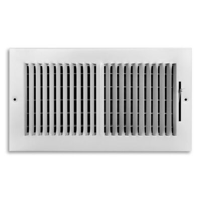 Tru Aire 12 in. W x 6 in. H Steel Wall/Ceiling Register White