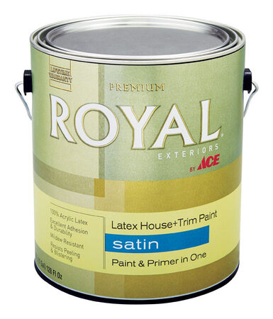 Ace Royal Acrylic Latex House & Trim Paint & Primer Satin 1 gal. Ultra White