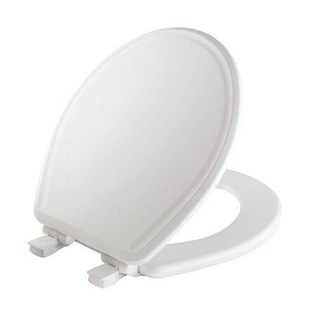 Mayfair Slow Close Round White Molded Wood Toilet Seat