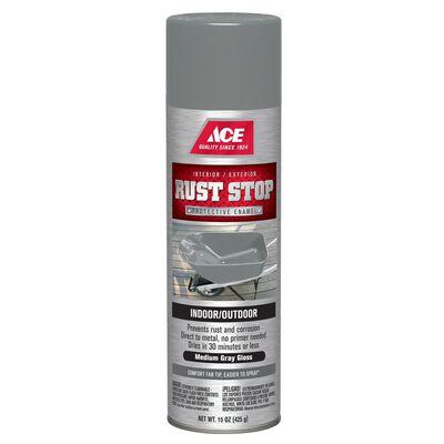 Ace Rust Stop Medium Gray Gloss Spray Paint 15 oz.