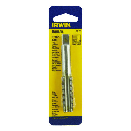 Irwin Hanson High Carbon Steel 9/16 in.-18NF SAE Fraction Tap 1 pc.