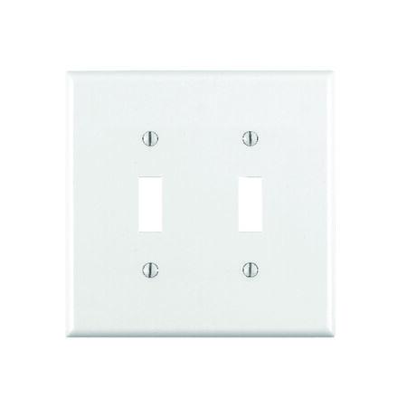 Leviton 2 gang White Nylon Toggle Wall Plate 1 pk