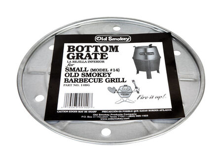 Old Smokey Plated Steel Bottom Charcoal Grate 14 in. W 11-1/2 in.