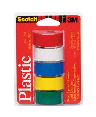 Scotch Multi color Plastic Tape 3/4 in. W x 125 in. L