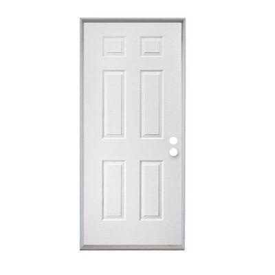 Steel Front Door Slab Right Hand - 32 in x 80 in