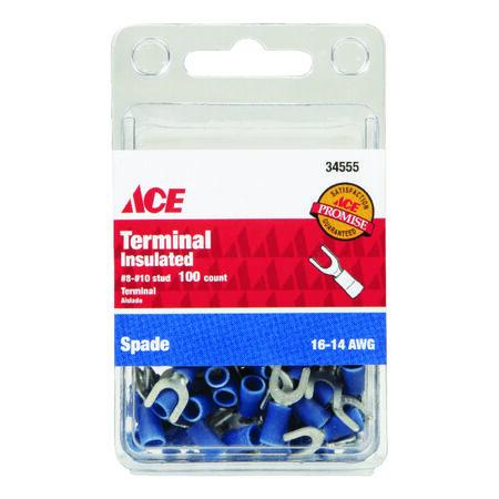 Ace Industrial Spade Terminal Vinyl 100 Blue