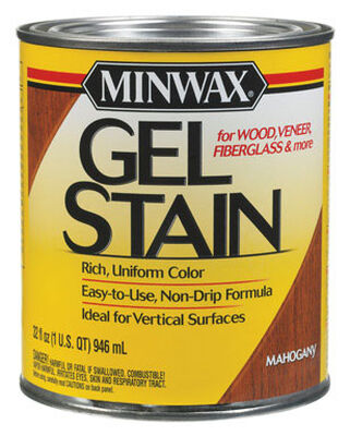 Minwax Transparent Oil-Based Gel Stain Mahogany 1 qt.