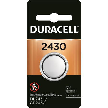 Duracell 2430 Lithium Security Battery 3 volts 1 pk