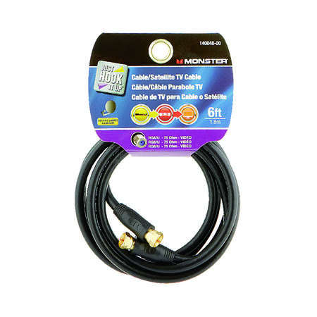 Monster Just Hook it Up 6 ft. L Video Coaxial Cable
