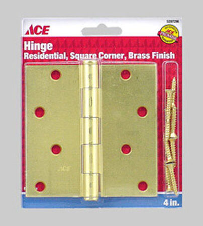 Ace Brass Residential Hinge 4 in. L Satin Brass 1 pk
