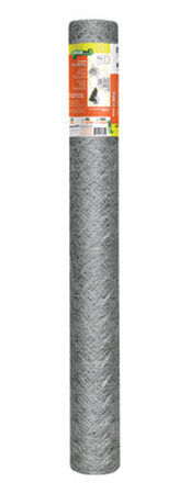 Garden Zone Poultry Netting 48 in. H x 150 ft. L 20 Ga. Silver Gray