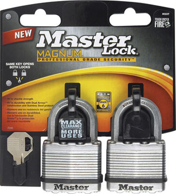 Master Lock 2 in. Keyed Alike Ball Bearing Locking Laminated Steel Padlock