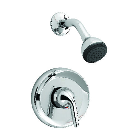 American Standard Shower Faucet 1 Handle Jocelyn Chrome Finish Solid Brass Material