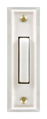 Heath Zenith White Wired Pushbutton Doorbell