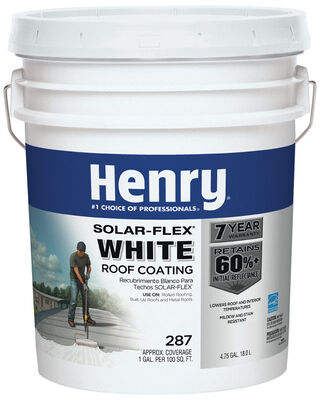 Henry Solar-Flex 287 Water Based Elastomeric Roof Coating 4.75 gal. White
