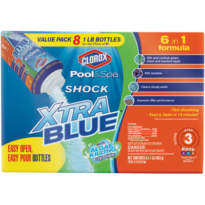 Clorox Pool&Spa Shock XtraBlue Value Pack, 8pk