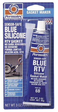 Permatex Blue RTV Silicone 3 oz. -65 to 500 deg. F