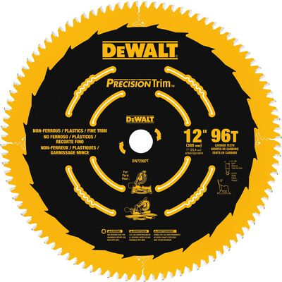 "12"" 96T Ultra-Smooth Crosscutting Saw Blade"
