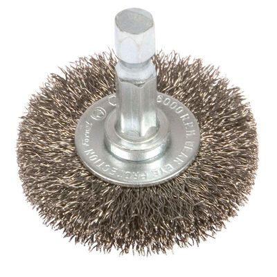 Forney 1-1/2 in. Dia. Coarse Crimped Wire Wheel Brush 6000 rpm