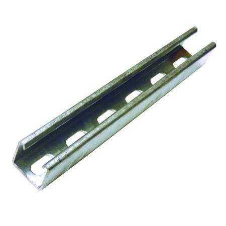 Unistrut 1-5/8 in. x 1-5/8 in. x 10 ft. 12 gauge Cord Channel Zinc