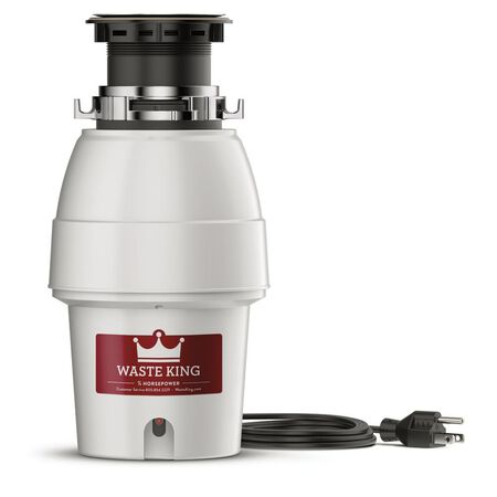 Legend Series 1/2 HP Continuous Feed Sound-Insulated Garbage Disposal