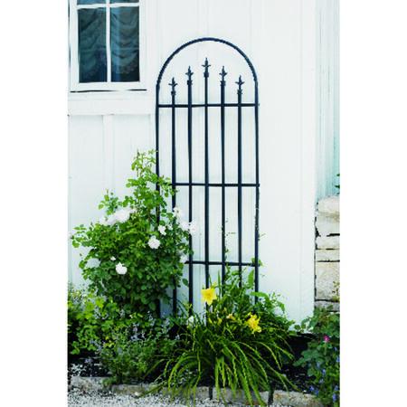 Panacea Black Steel Garden Fence 80 in. H x 24 in. L