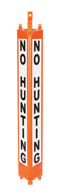 3D Post English 24 in. H x 4 in. W Plastic Sign No Hunting