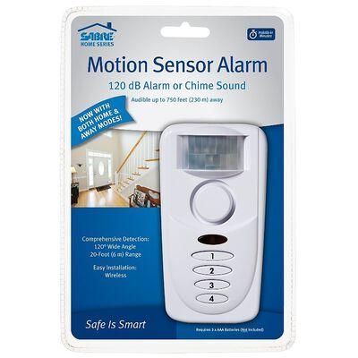 Sabre White Motion Sensor Alarm 5 in. H x 2.75 in. W x 1.5 in. L