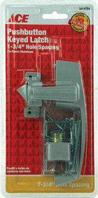 Ace Interior/Exterior Steel Aluminum Push Button Keyed Latch