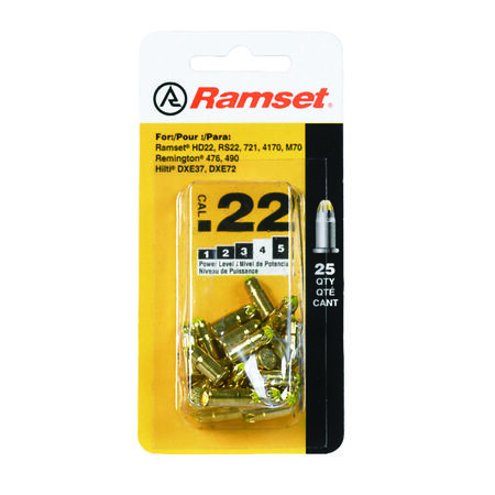 Ramset Powder Loads .22 Calilber 25 pk