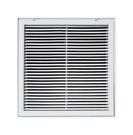 Tru Aire 20 in. H x 20 in. W White Steel Return Air Filter Grille