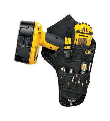 CLC 1 Black Poly Fabric Drill Holster 11 in. H x 6 in. L x 2.3 in. W