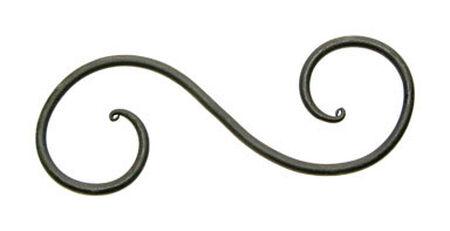 Panacea Black Steel S-Hook Plant Hook 6 in. D x 2-13/16 in. H x 9/32 in. W