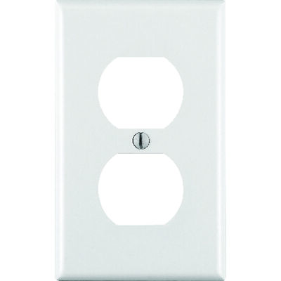 Leviton 1 gang White Thermoset Plastic Duplex Outlet Wall Plate 1 pk