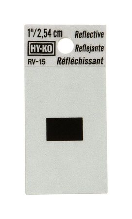 Hy-Ko Self-Adhesive Black Reflective Vinyl Special Character Hyphen 1-1/4 in.
