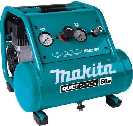 Makita Quiet Series 2 Gal. 1 HP Oil-Free Electric Air Compressor